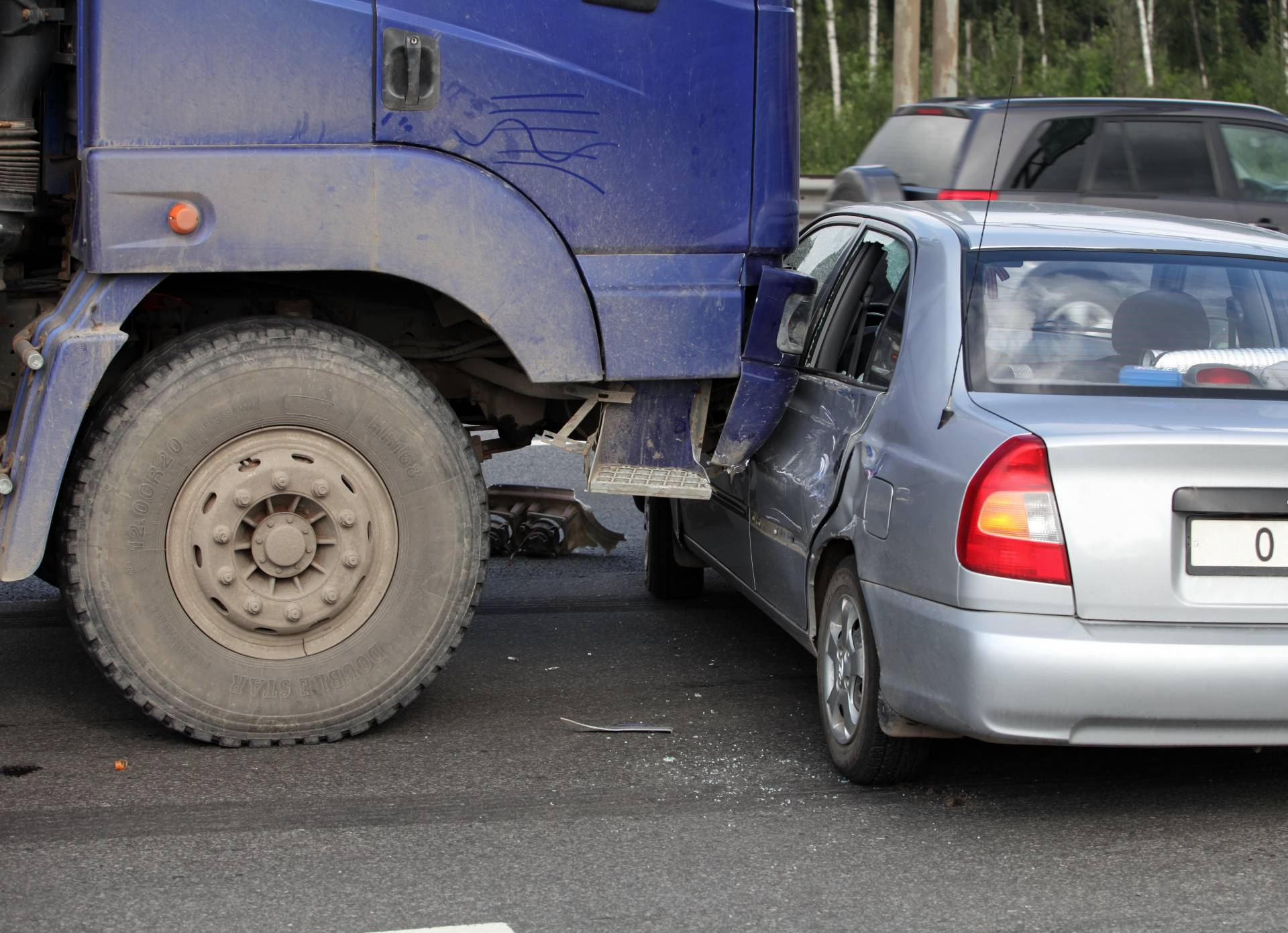 The Angell law firm knows trucking accidents! Call us today! We will hold the guilty party responsible.